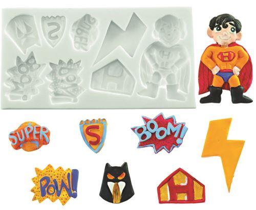 Plaque silicone super hero