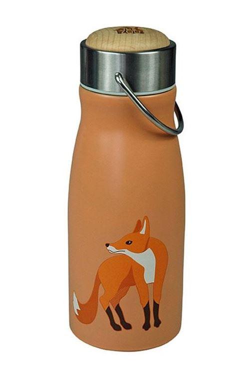 The Zoo gobelet Fox300 ml en acier inoxydable orange/argent