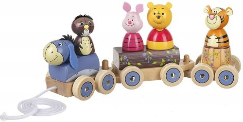 Train en bois a tirer winnie the pooh disney baby - jouet a tirer bebe - premier age