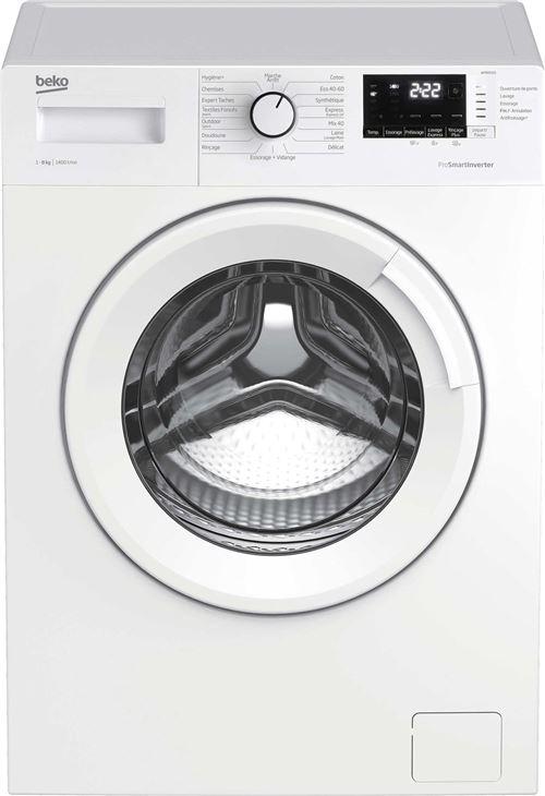 Beko Up WMB8455 - Machine à laver - indépendant - largeur : 60 cm - profondeur : 59 cm - hauteur : 84 cm - chargement frontal - 55 litres - 8 kg - 1400 tours/min - blanc