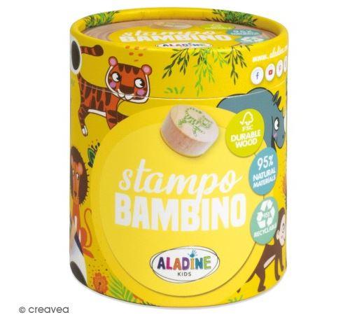 Kit de tampons bois Stampo Bambino - Savane - 8 pcs