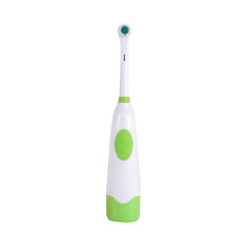 Brosse à dent électrique rotative avec 1 têtes de brosse à dent Vert