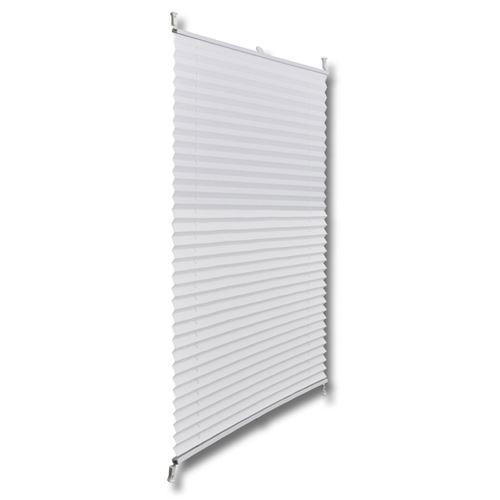 Store plissé en blanc 80 x 150 cm