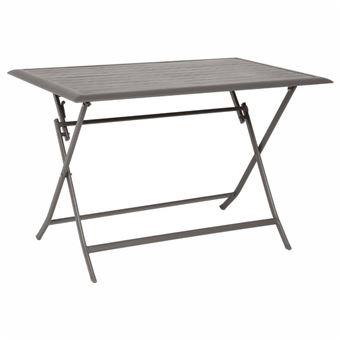 Table pliante Azua tonka 4 personnes Hespéride - Mobilier de ...