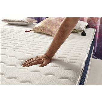 Matelas Orbit 140x190 Cm Mousse Hr Active Latex Mémoire De Forme Visco V90 Haute Densité 20 Cm