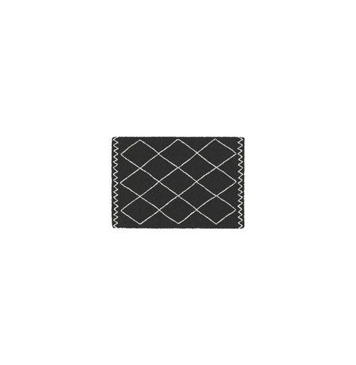 TAPIS RECTANGLE 60 x 110 CM POLYPROPYLENE SAOURA NOIR