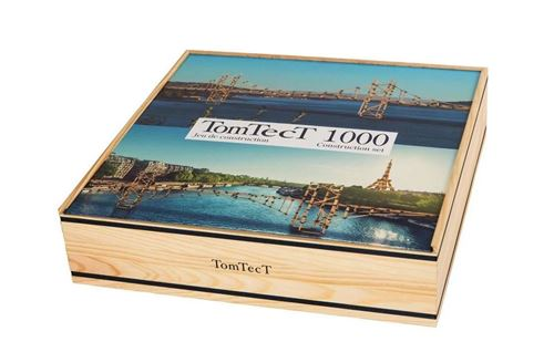 TomTecT kit de construction junior bois/plastique naturel/bleu 1000 pièces