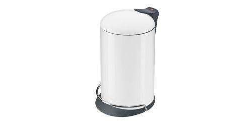 Tretabfallsammler solid design 16 boîtier blanc, seau intérieur gris hailo 0516-090