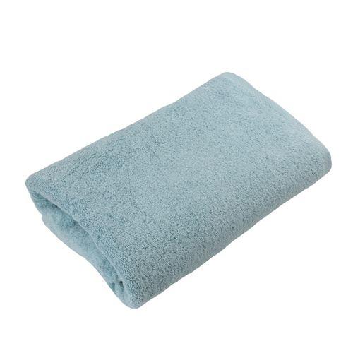 LINANDELLE - Serviette de toilette coton éponge ESSENTIELLE Bleu lagon 50x100 cm