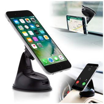 support t l phone voiture universel magn tique sur pare brise et tableau de bord pour tous les. Black Bedroom Furniture Sets. Home Design Ideas