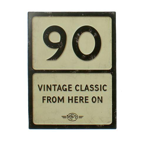 Plaques de signalisation de anniversaire - 90