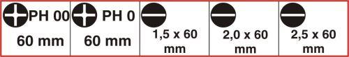 Connex COXT977008 Set de tournevis de mécanique de précision fente/PH 5 pièces, Argent/noir/rouge