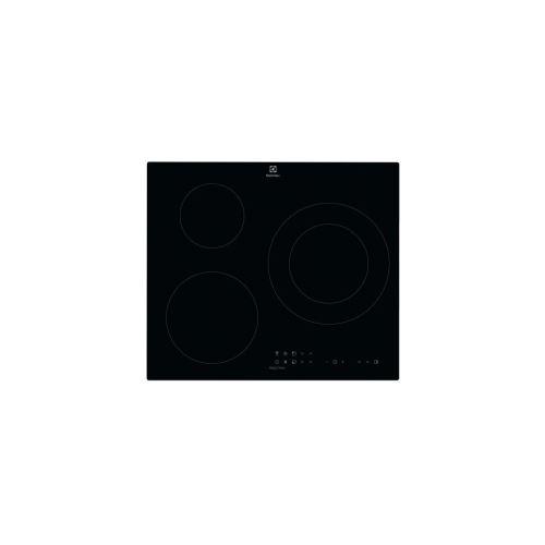 Electrolux LIT60336CK - Table de cuisson à induction - 3 plaques de cuisson - Niche - largeur : 56 cm - profondeur : 49 cm - noir - avec bord droit
