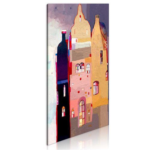 Tableau - Immeuble fabuleux - Décoration, image, art | Pour enfants | 40x80 cm |