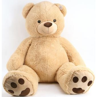 peluche mega ours beige 1 metre 40 sam peluche geante 140 cm animal en peluche achat. Black Bedroom Furniture Sets. Home Design Ideas