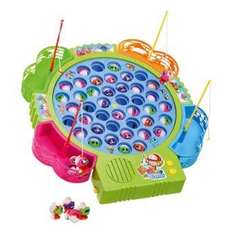 Jeu de pêche à la ligne 45 petits poissons (coloris du jeu aléatoire) - jouet électronique ...