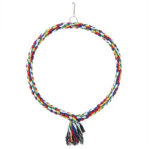Balançoire de Perroquet Cercle Anneau Corde Perche - Petit