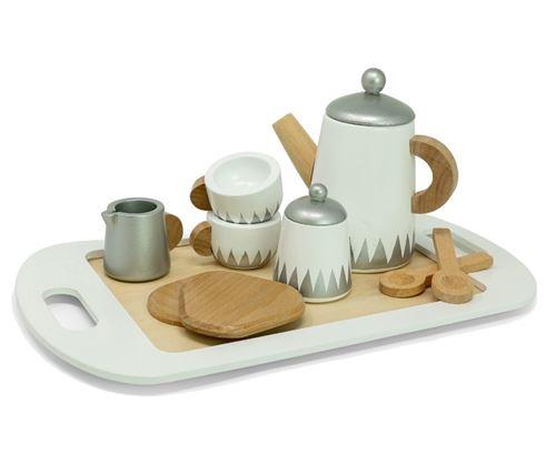 Mamamemo Service à thé sur plateau bois 12 pièces