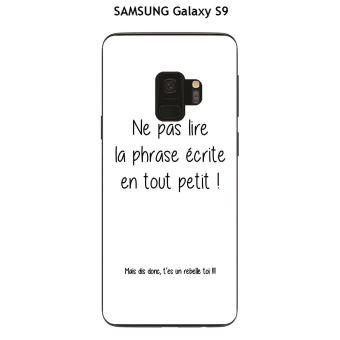 coque samsung s9 texte