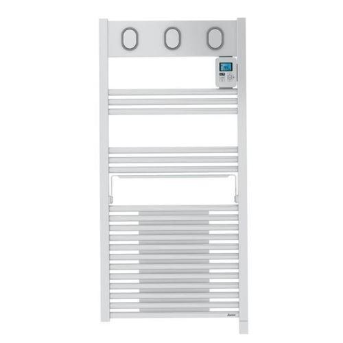 SAUTER Marapi Radiateur Seche-serviettes electrique avec soufflerie - 1500 watts - Ecran LCD - Programmable -Tubes ronds