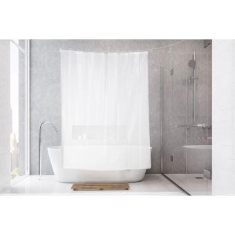 Rideau de douche semi-transparent à effet 3D - Accessoires salles de ...