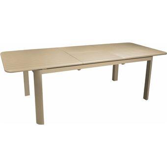 Table en aluminium avec allonge Eos 180-240 cm Sable ...