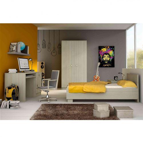 Chambre complète enfant en bois frêne clair - CB4024