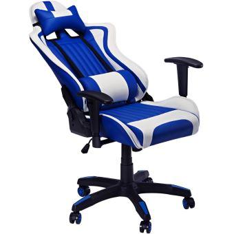 Chaise Fauteuil De Bureau Gaming Slypnos Ergonomique Et Gaming Design En Cuir Pu Bleu