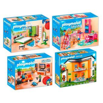 10€ sur PLAYMOBIL 9266-67-70-71 Maison moderne - 4 boîtes - 9266+ ...