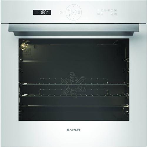 Brandt BXP6555W - Four - intégrable - niche - largeur : 56 cm - profondeur : 55 cm - hauteur : 58.5 cm - avec système auto-nettoyant - classe A+ - blanc