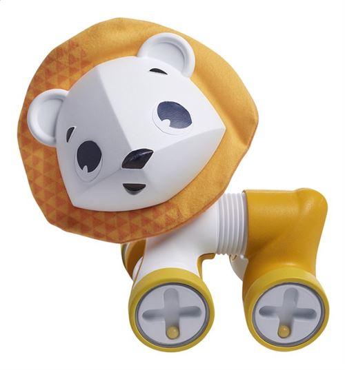 Léonardo le petit lion jaune roulant