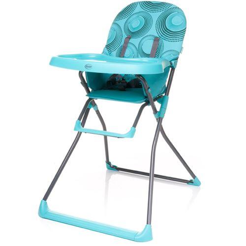 Chaise haute, pratique et légère HOWER | max. 15 kg | turquoise