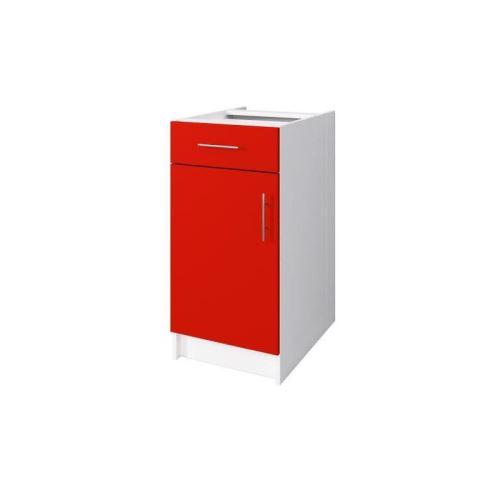 OBI Meuble bas de cuisine L 40 cm - Rouge mat