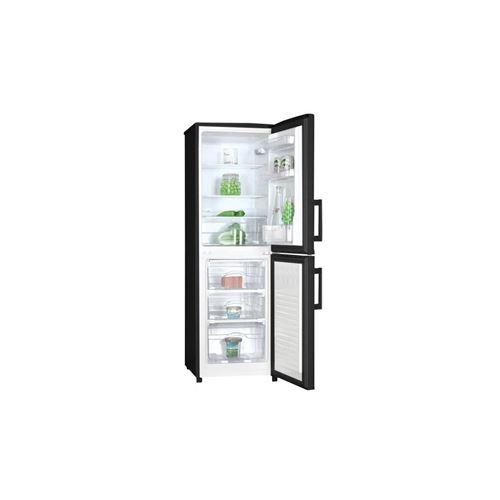 HAIER HBM-446B - Réfrigérateur congélateur bas - 140L (89+51) - Froid  statique - A+ - L 48cm x H 145cm - Noir