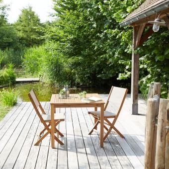 Salon de jardin en bois d\'acacia FSC 2 places - Mobilier de ...