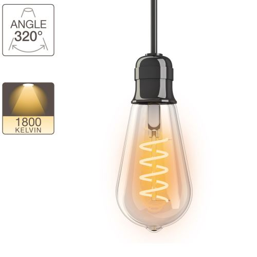 Ampoule LED ST64 - culot E27 - vintage
