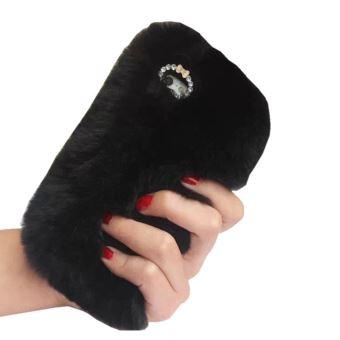 coque iphone 6 fourrure noir