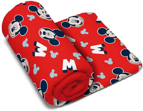 Arditex serviette Mickey Mouse polyester 150 x 95 cm rouge