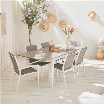 Table Extensible Taupe Jardin De Alice's Chicago 210 Salon Garden gf7b6y