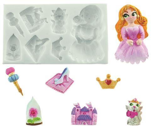 Plaque silicone princesse