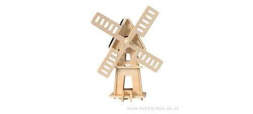 Heico - Egmont Toys Moulin A Vent A Construire avec Panneau Solaire, 630538