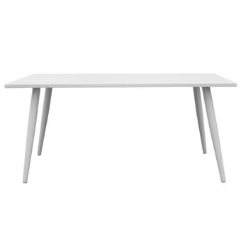 Table rectangulaire en aluminium blanc 160x90cm MANSION blanc ...