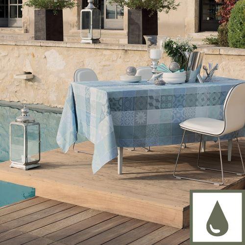 Nappe Mille Tiles Bleu Lagon 175 Garnier-Thiebaut