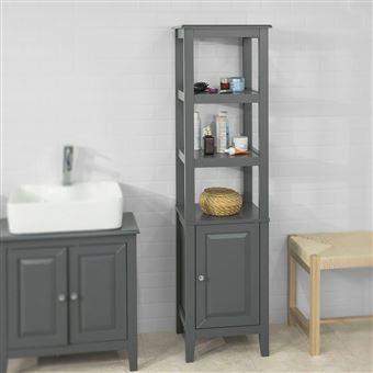 sobuy frg205 dg meuble colonne de salle de bain armoire. Black Bedroom Furniture Sets. Home Design Ideas