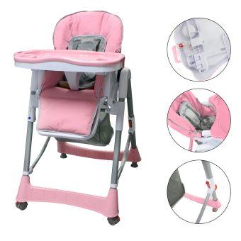 Chaise Pliante Pour Bebe Haute Rose Taille Deployee 105 X 75 60 Cm
