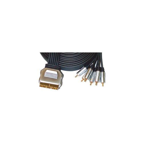 Câble péritel audio vidéo CINCH 5m