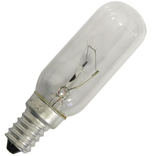 Ampoule E14 40W T25 Hotte 9029791929, 50252607002 ZANUSSI, CANDY, ELECTROLUX, ROSIERES, AEG, SAUTER, HOOVER, FAURE - 92229