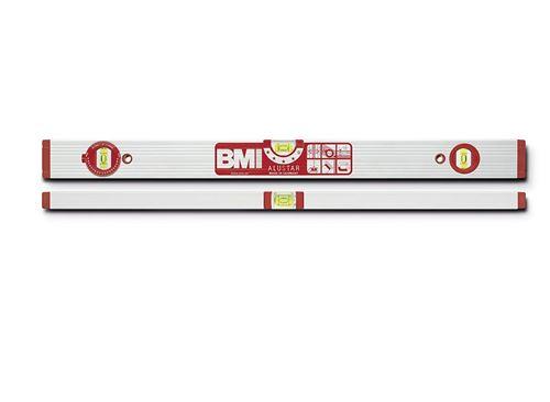 BMI 691120 Alustar Alu-niveau à bulle, Argent/rouge, 120 cm