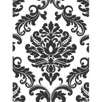 Noir et blanc damask peler et coller Papier peint - Décors et stickers - Achat & prix   fnac