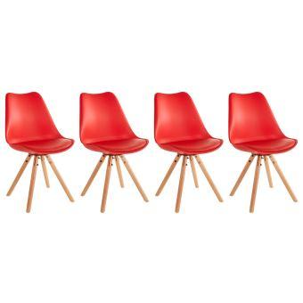 Chaises Lot Rouge Coussin De Avec 45Sur Scandinaves 4 Rita Achat 0O8Pknw